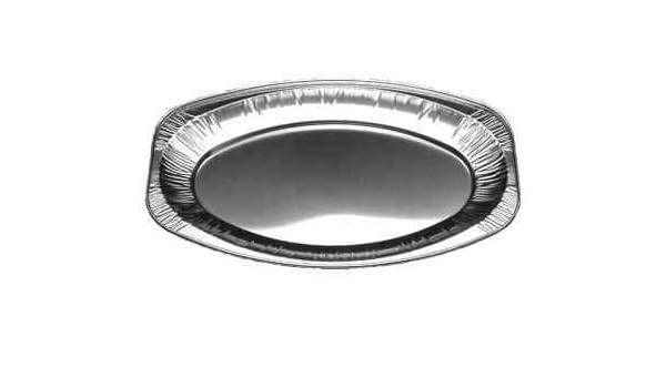 perfekte A... Einweg Alu Servier-Schalen oval aus Aluminium 20 Servierplatten