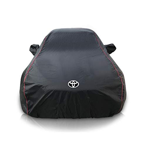 AJZGF Car sunscreen / rain / waterproof / antifreeze / car anti-dirty cap Car sunscreen full sunscreen cover (color: A-Toyota Corolla)
