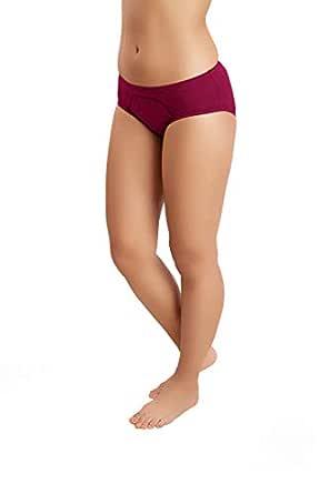 Juliet Women's Plain Cotton Lycra Period Panty | Leak Proof | Stain Free | Menstrual Panty