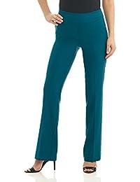 Rekucci Femme Pantalon Extensible Coupe Évasée Moderne Facile ... 9573814570f