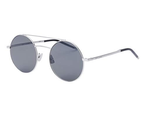 Yves Saint Laurent Sonnenbrillen (SL-210 001) silber - blau-grau