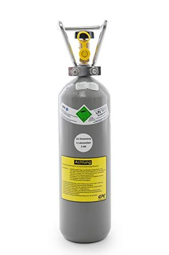Preisvergleich Produktbild 2 kg Kohlensäure Flasche / 2 kg CO2 Flasche/Gasflasche gefüllt mit Kohlensäure(CO2) / Lebensmittelqualität nach E290 / NEUE Eigentumsflasche direkt vom Abfüller / 10 Jahre TÜV ab Herstelldatum/Import
