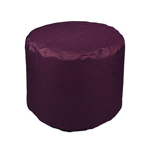 Kinzler S-10118/50 Sitzhocker rund, ca. Ø50 x H40 cm, Outdoor & Indoor, Sitzsack in vielen verschiedenen Farben, wasserabweisender Hocker, lila