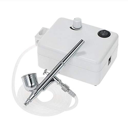 Preisvergleich Produktbild Mini Luftkompressor Set Dual Action Airbrush Schwerkraftspeisung Airbrush Kit für Tattoo Maniküre Handwerk Kuchen Spritzpistole Nagel Werkzeug Set, Euplug