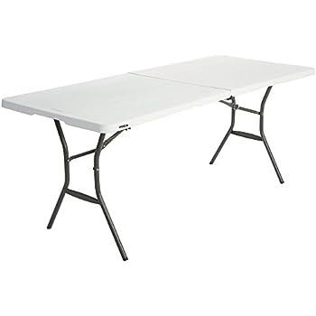 Lifetime 6 Ft/1.83 M Essential Fold In Half Table, White Granite