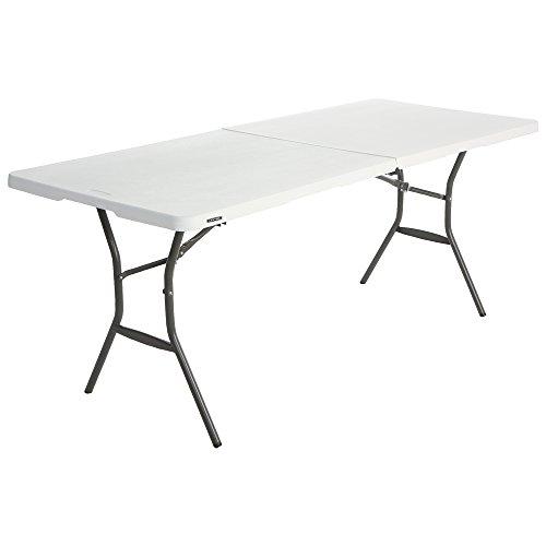 Lifetime 6 ft/1.83 m Essential Fold-in-Half Table, White Granite