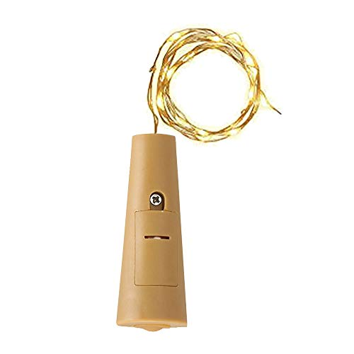 cadena de luz Zariavo,lámpara de botella de vino de luz estrellada con forma de corcho con forma de LED que destella