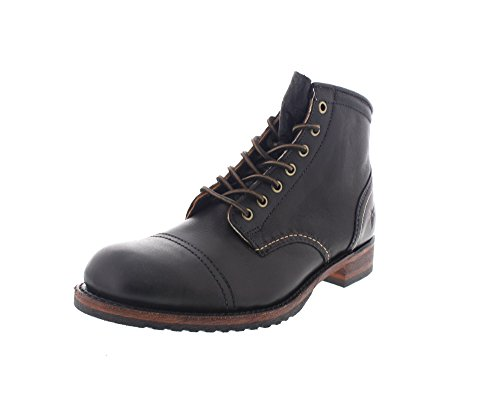 FRYE Herrenschuhe - Boots Logan Cap Toe - Black, Größe:43 (Frye Leder-boots)