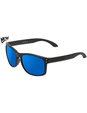 Northweek Bold, Gafas de Sol Unisex, Matte Black / Blue Polarized, 45