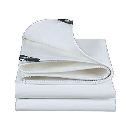 Gewebeplane ZX, Verdickter PVC-Messerschaber, Regendichtes Tuch, Wasserdichtes Sonnenschutzzelt, Hochfestes Draht-3-Antituch 500g/㎡ (größe : White-3x4m)