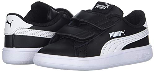 PUMA Boys  Smash V2 Velcro Sneaker Black White  3 M US Little Kid