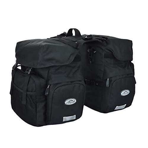 Favourall Fahrradtasche, Fahrrad Gepäckträger Tasche, Fahrrad-Doppeltasche, Kofferraumtasche, Große Kapazität, Wasserdichte Gepäcktasche