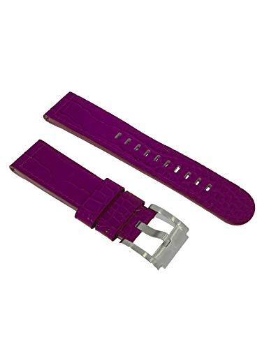 TW Steel Marc Coblen Armband Uhrenband Uhrenarmband Leder 22 MM Kroko Violett LB_V_K_S