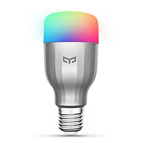 Smart Led Lampe, 16 Millionen Farben, E27 9W RGB Birne, WiFi-Fernbedienung Kompatibel Mit kompatibel mit Amazon Alexa (Echo, Echo Dot) und Google Home White Lampe (Wifi Birnen-Multifarbe)