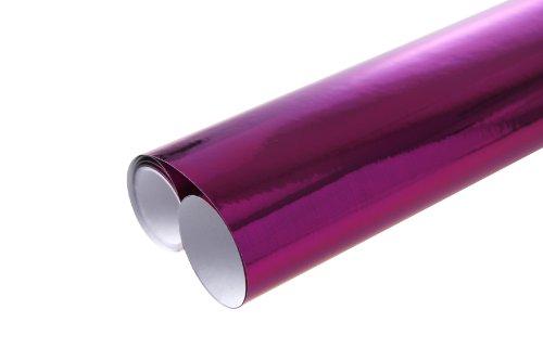 Kostüm Qualität Premium - Clairefontaine 354160C Rolle Papier (mit Metaleffekt, einseitig farbig, 2 x 0,7 m, ideal für Kostüm und Deko) 1 Stück rosa