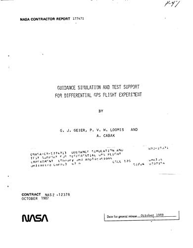 Guidance simulation and test support for differential GPS flight experiment (English Edition)