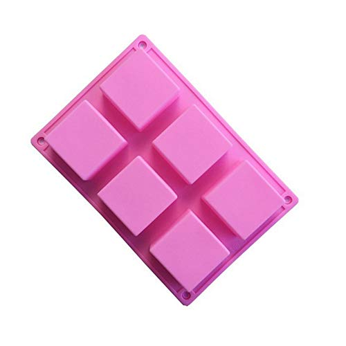 Silicone Soap Mold -raspbery Square Baking Molds Cake Pan 6 Big Cavities Ice Cube Tray Silicon Handmade Moulds For Biscuit Cakes Chocolate Soaps Square Chocolate Mold