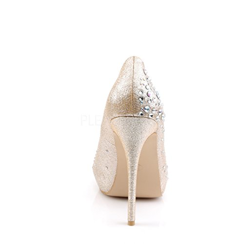 Fabulicious OpenToe Satin-Strass-Pumps Heiress-22R nude Nude