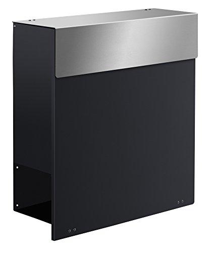 Frabox NAMUR XXL Design Briefkasten Anthrazitgrau / Edelstahl