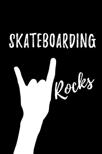 Skateboarding Rocks: Blank Lined Pattern Funny Journal/Notebook as Birthday, Christmas, Game day, Appreciation or Special Occasion Gifts for Skateboarding Lovers di Passion Life Publishing