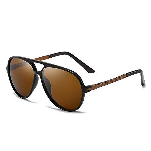 Fashion Classic Sports UV-Schutz Sonnenbrillen Leichte Herren Polarisierte Sonnenbrillen Brille (Color : 02Tea, Size : Kostenlos)