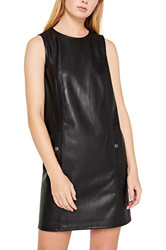 edc by ESPRIT Damen 119CC1E016 Kleid, Schwarz (Black 001), (Herstellergröße: 40)