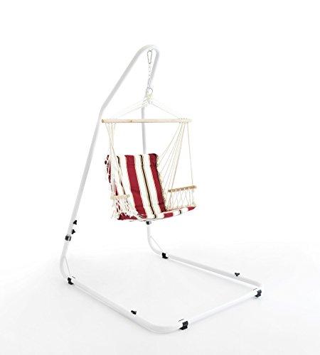 Design Twist Cuba Support Hamac, Tissu, Rouge, Blanc