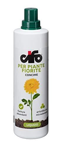 concime liquido per piante fiorite CIFO ROSE BOUGANVILLE GELSOMINO ASTRO TAGETE VIOLE DALIE LAVANDA ARRICCHITO CON MICROELEMENTI E ferro