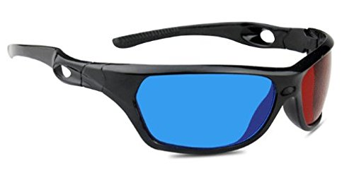 3D Brille rot/cyan (3D-Anaglyphenbrille) hochwertige 3D Brille für 3D PC-Spiele, 3D Bildern, 3D Filme, 3D (z.b. Sky 3D), 3D Projektion, 3D Video Marke PRECORN