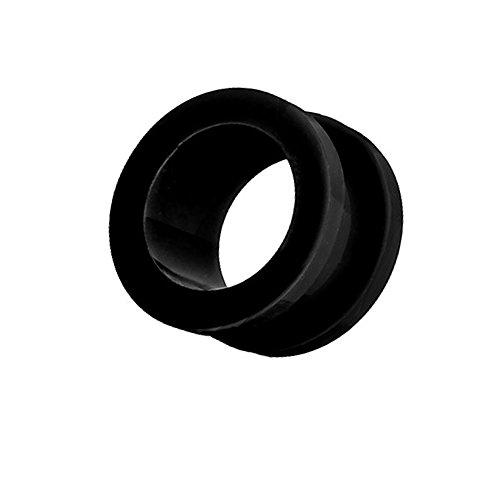 Piercingfaktor Flesh Tunnel Ohr Schraub Ear Plug Piercing Kunststoff Acryl Schraubverschluss Rund Creole 6mm Schwarz -