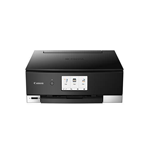 Canon PIXMA TS8250 Tinten-Multifunktionsgerät (Drucken, Scannen, Kopieren, 6 Separate Tinten, WLAN, Print App, automatischer Duplexdruck, 2 Papierzuführungen) Schwarz