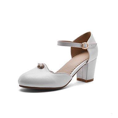 LvYuan Sandali-Ufficio e lavoro Formale Casual-Club Shoes-Quadrato-PU (Poliuretano)-Nero Rosa Bianco Pink