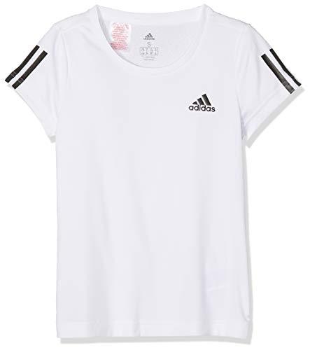 adidas Mädchen YG TR EQ T-Shirt, White/Black, 11-12 Years