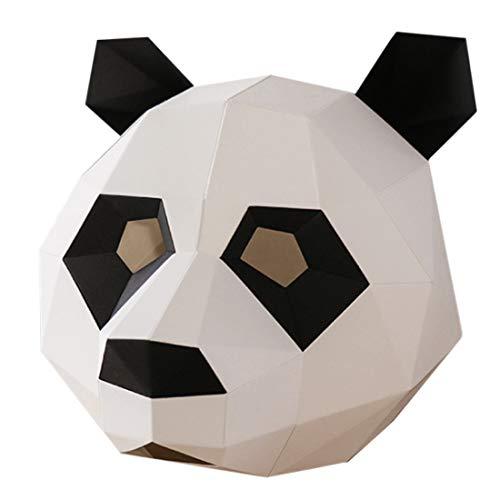 e Perfekt für Fasching Festival, Halloween-Party-Kostüm Pandamaske Unisex Einheitsgröße ()
