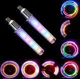 5 Led Blinkt Ventilkappen Fahrrad Motorrad Felgen Reifen Ventilkappe Licht Bike 5 Led, 32 Arten von Farben die Leuchten (Rainbow (Regenbogen))