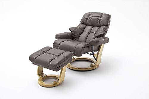 Robas Lund, Sessel, Relaxsessel, Calgary XXL, Leder/braun, 92 x 97 x 110 cm, 64038BN5