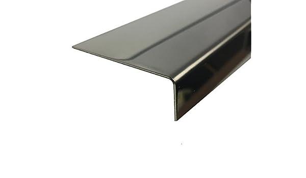 1500mm Edelstahl Blank 1,0mm Eckschutzschiene Eckschutz L-Winkel Winkelprofil