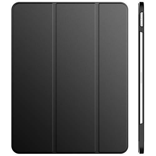 JETech Hülle für iPad Pro 12,9 Zoll (2018 Modell, 3.Generation), Veröffentlichung Kante zu Kante Liquid Retina Bildschirm, Kompatibel mit Apple Pencil, Intelligent Abdeckung Schlafen/Wachen, Dunkel Grau