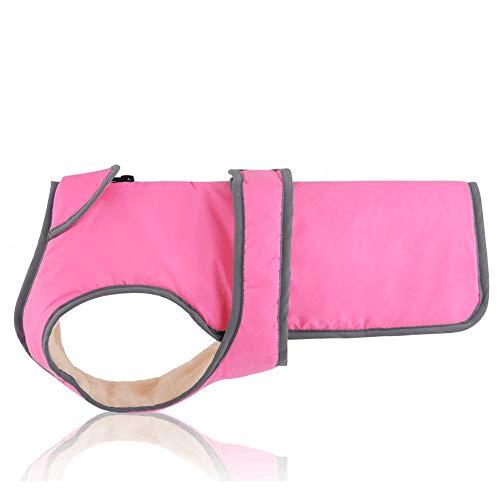 Pet Clothes Plus Velvet Verdickung Herbst und Winter Weste, Taille kann angepasst werden Reflektierende große und mittelgroße Hunde Heimtierbedarf (Color : Pink, Size : - Welpen Bauch Baby Kostüm
