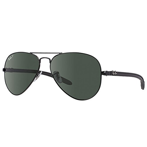 Ray-Ban-RB8307-Aviator-Carbon-Polarized-Sunglasses-58mm