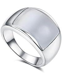 redfly rosa creado Opal 18ct bañado en oro rosa de ancho anillos para mujeres y hombres