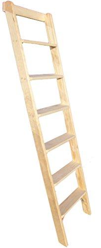 Premium Hochbettleiter Holz 11-stufig als Stufenanlegeleiter formsch/ön f/ür senkrechte H/öhe von 2,54 m
