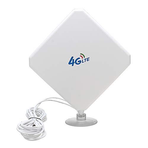 12 Booster Kabel (Majome 35dBi 4G LTE Dual MIMO Antenne Booster Antenne TS9 Stecker mit Kabel für Huawei BI622)