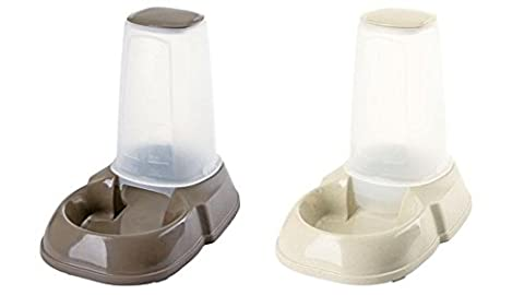 Futterspender und Wasserspender jeweils 1,5 Liter Fassungsvermögen für Katzen und