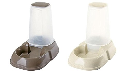 Futterspender und Wasserspender jeweils 3 Liter Fassungsvermögen für Katzen und Hunde im Set