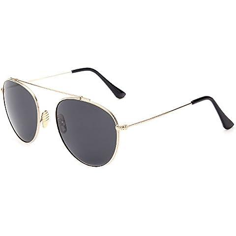TIJN da uomo a specchio, stile Aviator Occhiali da sole UV400Eyewear