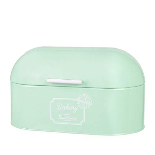 Vintage Brot Box Klappdeckel Mint Green Retro Küche Zinn Brot Bin Aufbewahrungsbox (Color : Green) (Glas-brot-box)