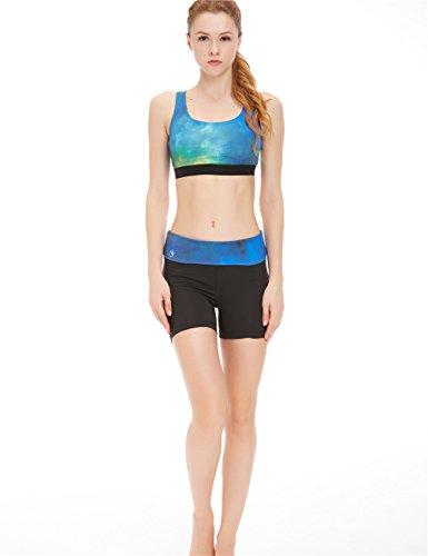 icyZone® Femme Sexy Soutien-gorge de Sport Lingerie Brassière Sans Armature pour Yoga Gym aurora
