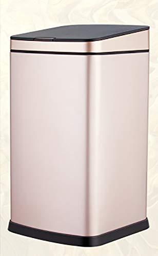 Sensor Mülleimer, große Kapazität Platz Haushalt Bad Wohnzimmer Schlafzimmer Küche mit Flip Mülleimer Automatisch,Gold,12L ()