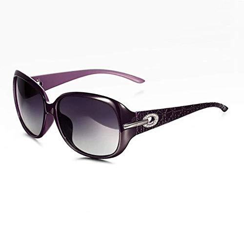 JOLLY Brillen-Sonnenbrillen - Voller UV400-Schutz - Frauen Damenmode Oversized - Klassische Sonnenbrillen (Farbe : Lila)